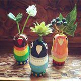 小鳥 花瓶