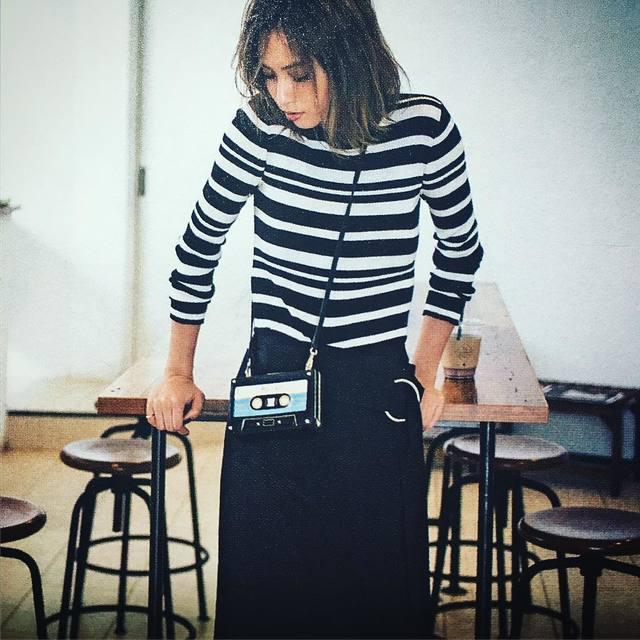 河野悦子のファッションで使用していたNINE(ナイン)ボーダープルオーバー