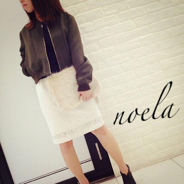 校閲ガールで着用のNoela(ノエラ)サテンブルゾン