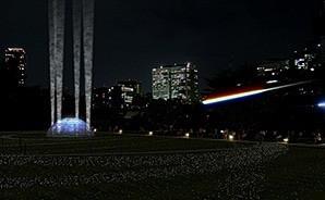 東京イルミネーション、東京ミッドタウンの流れ星