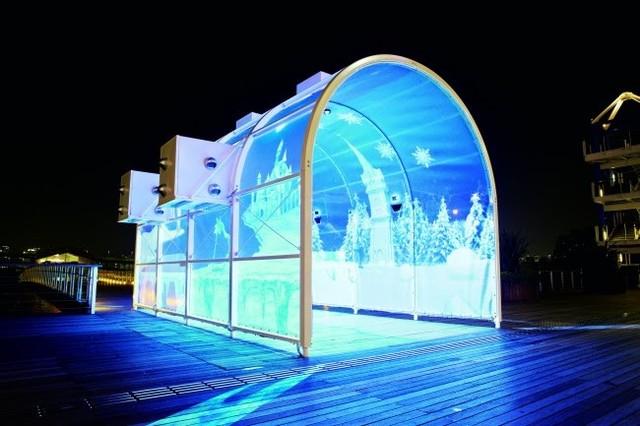 東京イルミネーション、デックス東京ビーチではポムポムプリンイベント