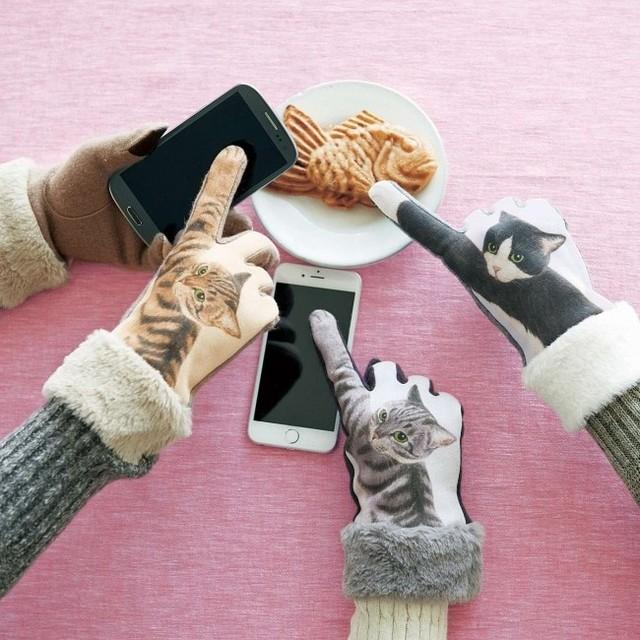 フェリシモ猫部/YOU+MORE! スマートフォン対応 猫パンチ手袋
