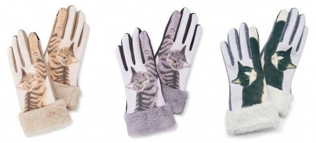 フェリシモ猫部/YOU+MORE! スマートフォン対応 猫パンチ手袋/カラー