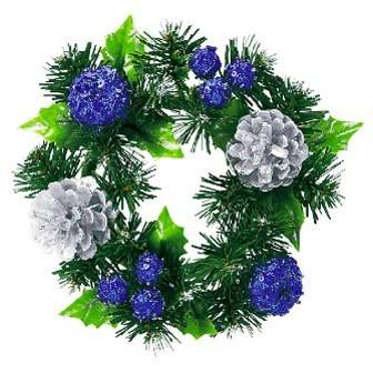 クリスマスの飾り付け、ジュエルカラーリース