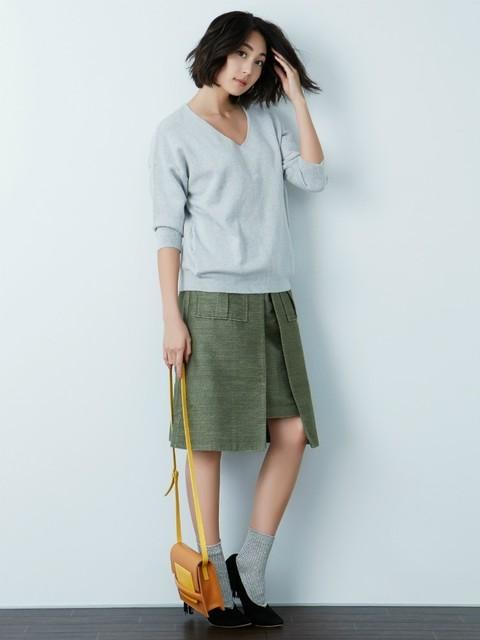 ラグナムーンのMilitary Aラインスカート