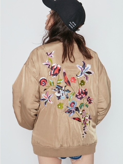 エヴリス/ FLOWER刺繍リバーシブルMA-1