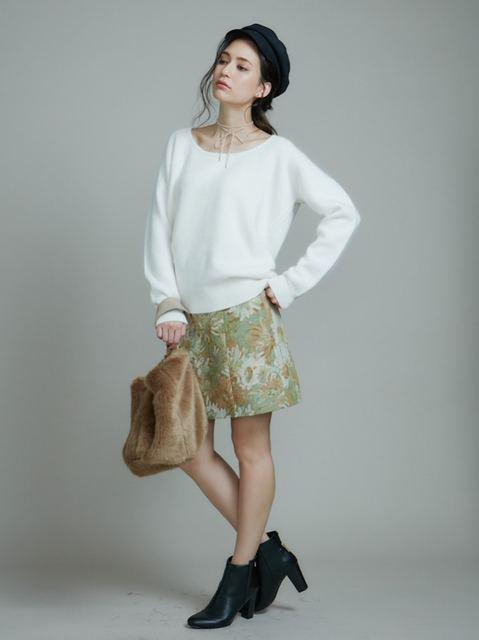 マーキュリーデュオ/ゴブラン柄台形スカート