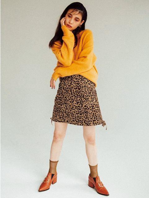 ムルーア/サイドコード台形スカート