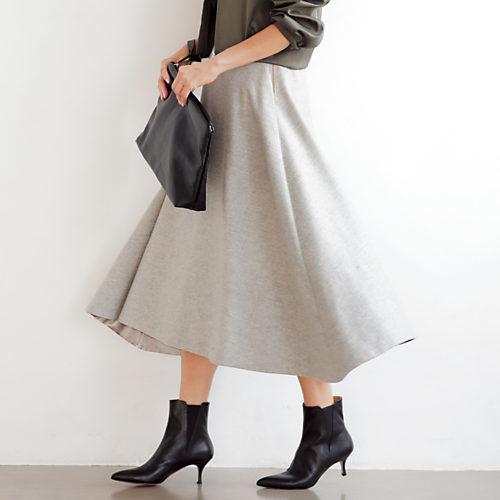 クリスマスデート女性服/マディソンブルー/ウールミモレフレアスカート