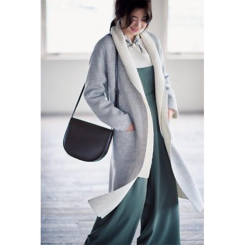 30代モテファッション/ヤーキ/ラウンドショルダーバッグ