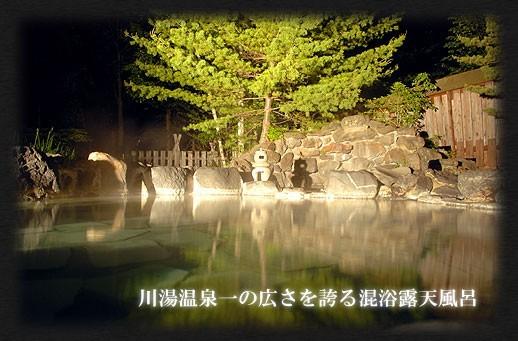 北海道の混浴温泉 川湯温泉・湯の閣