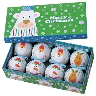 クリスマスの飾り付け/60mmプリントシュガーボール キュートスノーイング