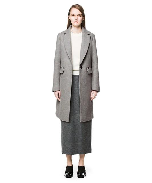 キャリアウーマンファッション/クラネ/ボックスチェスターコート
