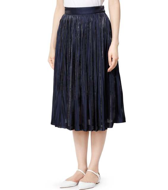 キャリアウーマンファッション/ルシェルブルー/プリーツスカート