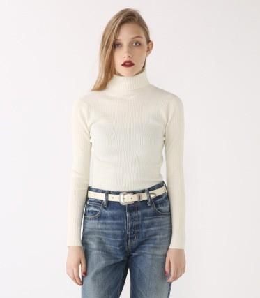 キャリアウーマンファッション/BLACK BY MOUSSY/Rib turtleneck knit