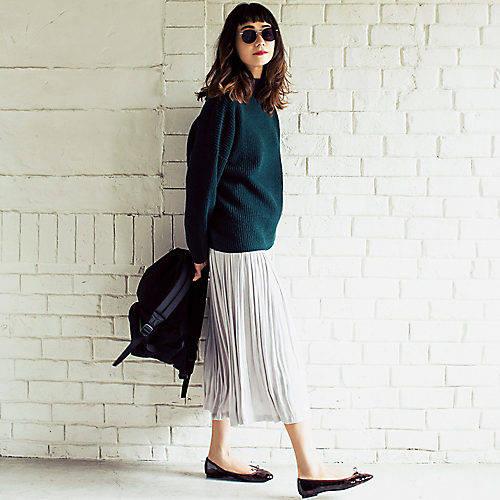 男ウケファッション/プリーツスカート