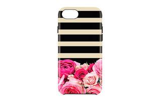 iPhone 7用 kate spade(R) ハイブリッドカバー/Photo Rose Stripe (39217)
