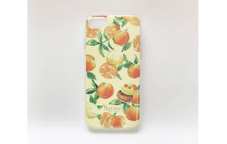 iPhone 8用 ピエール・エルメ Satine ハイブリッドカバー/オレンジ (39382)