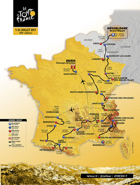 2017 Route - Sporting aspects, stage cities - Tour de France 2017 (184)