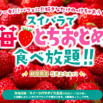 スイパラでいちご食べ放題🍓とちおとめやこぼれ苺パフェなど🍓原宿・新宿・池袋・横浜など🍓