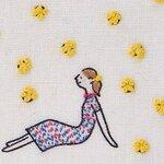 【初心者さん向け】マスクにもおススメ❣1からわかる😊初めての刺繍✨