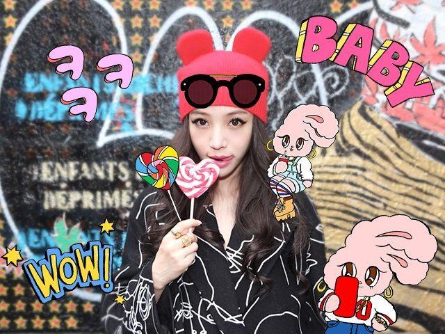 人気モデル「Megbaby」と人気イラストレーター「Esther Kim」のスペシャルコラボスタンプが無料で登場! : LINE Camera 公式ブログ (1405)