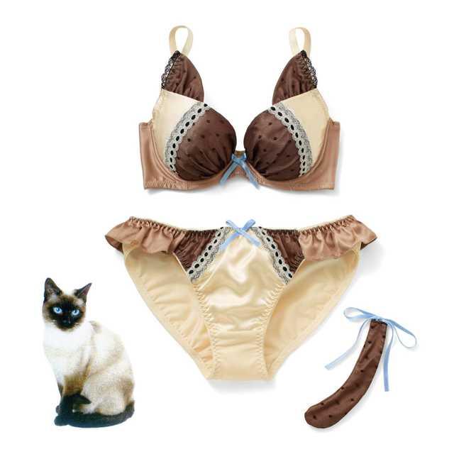 なりきりにゃんこ 猫好きガールの愛され胸 ブラ&ショーツ