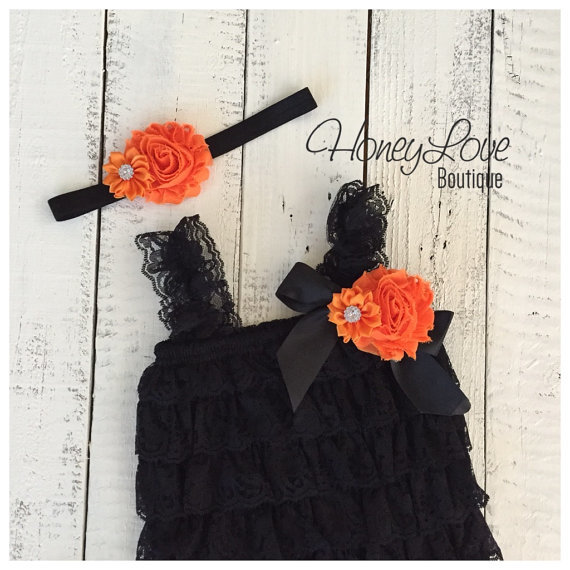 Halloween Outfit  Black Lace Embellished by HoneyLoveBoutique (2844)