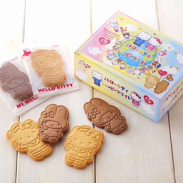 キティちゃんとマイメロちゃんの形の北海道クッキー
