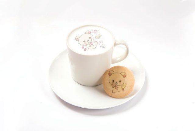 コリラックマのふんわりホットカフェラテ