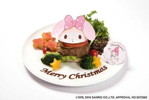 マイメロディのクリスマスハンバーガー  1,380円(税抜)