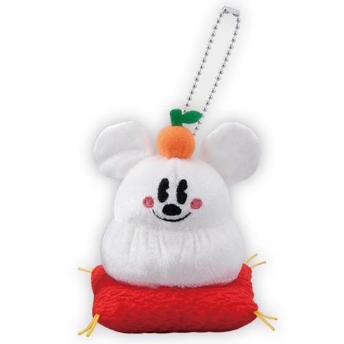 ミッキーマウスのぬいぐるみバッジ