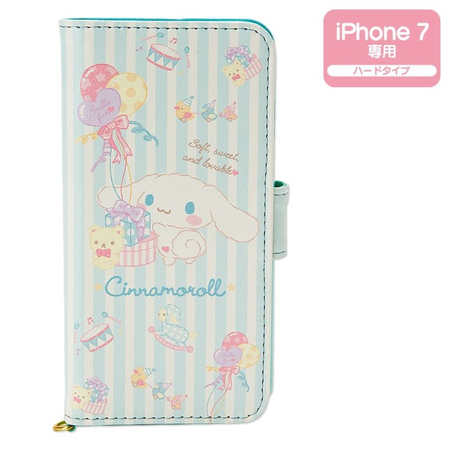 シナモロール 2つ折りiPhone 7ケース