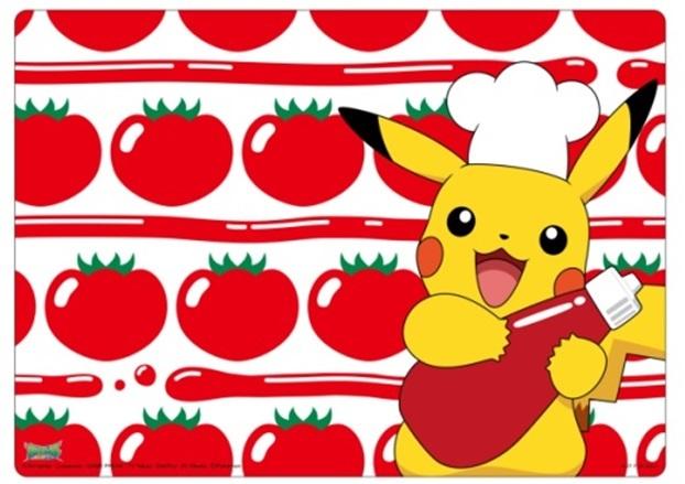 トマトとピカチュウのランチョンマット
