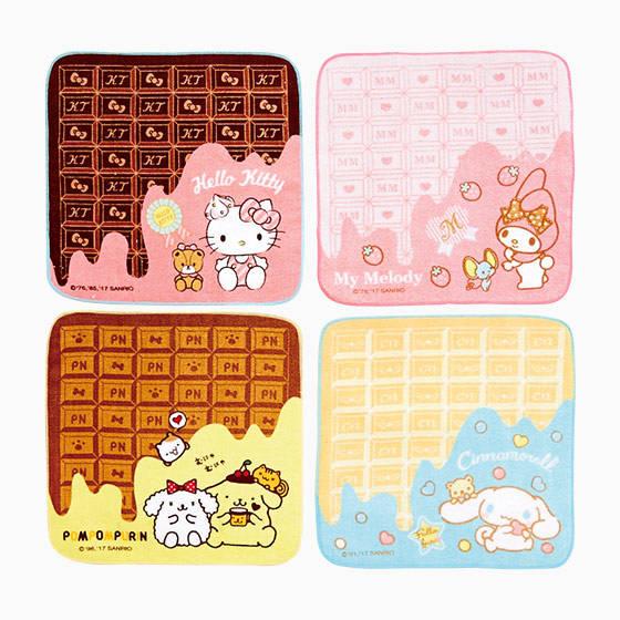 板チョコプチタオル 全4種類 各648円