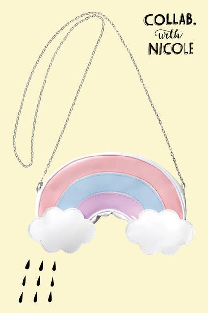 にこるんプロデュース スマホポシェット(虹)