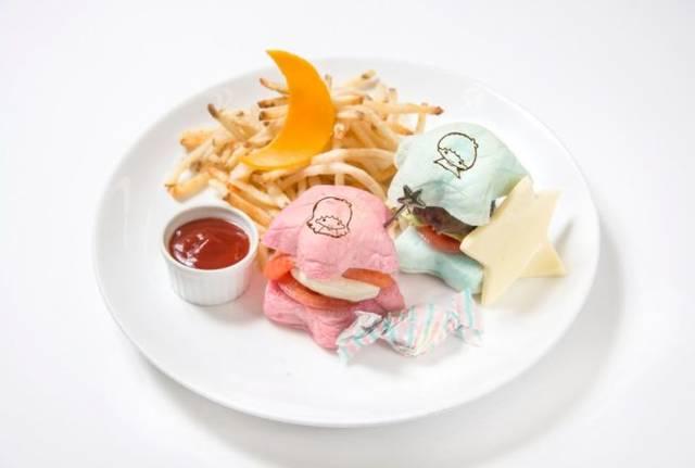 リトルツインスターズ ハンバーガープレート  ¥1,350