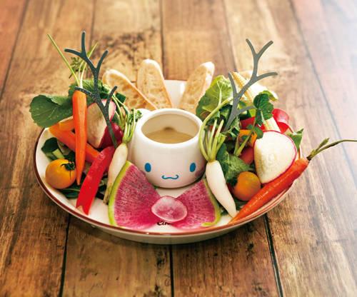 カラフル野菜のバーニャカウダ 1,600円(税別)