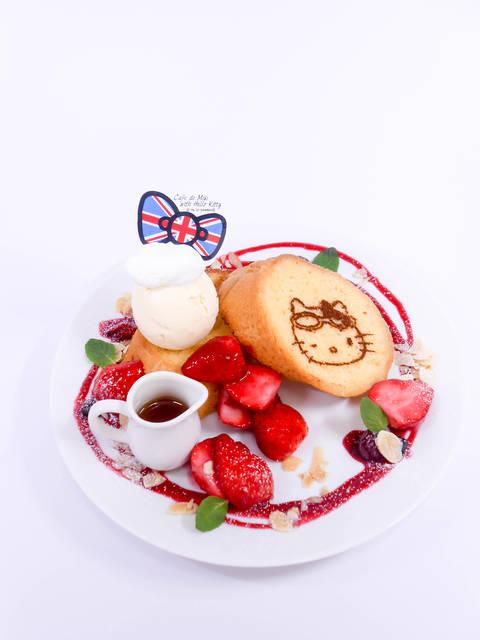 ストロベリーフレンチトースト 1,300円  (ドリン...