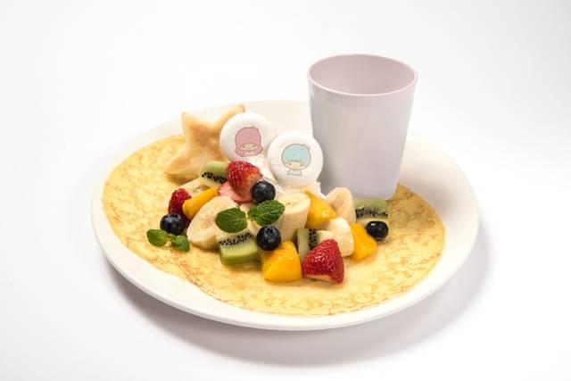 キキ&ララのフルーツたくさん贅沢クレープ   ¥1,280