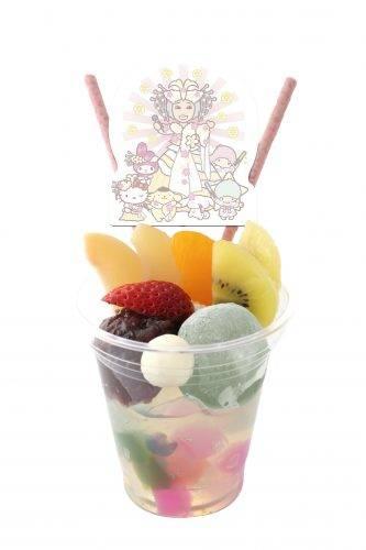 サンリオ幸子のカラフルあんみつ 800円(税込)