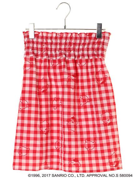 ポムポムプリン 刺繍タイトスカート ¥4,309税込