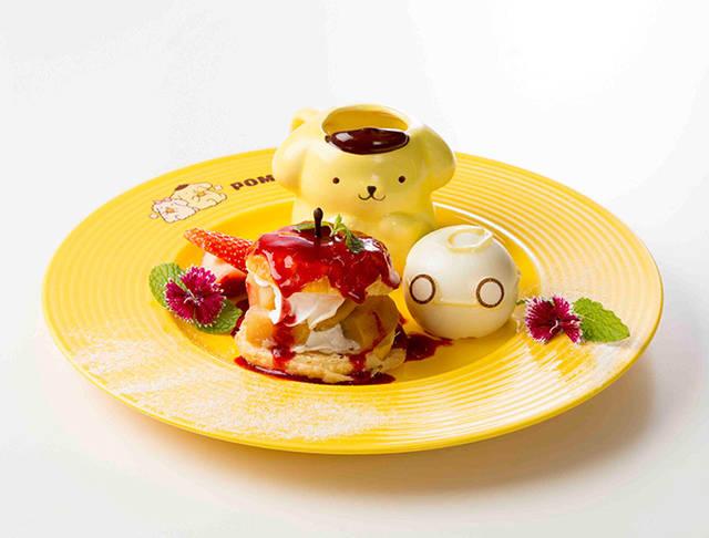 ミーくんとプリンのお花畑deアップルパイ♪ 1,090円+税