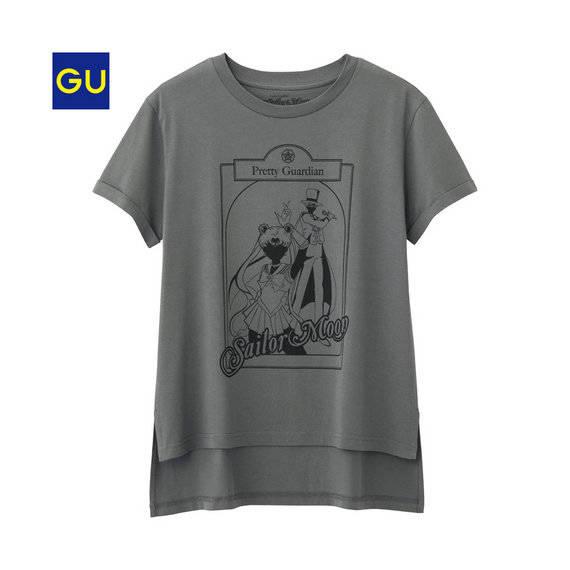 (GU)グラフィックT(イラスト・半袖)A