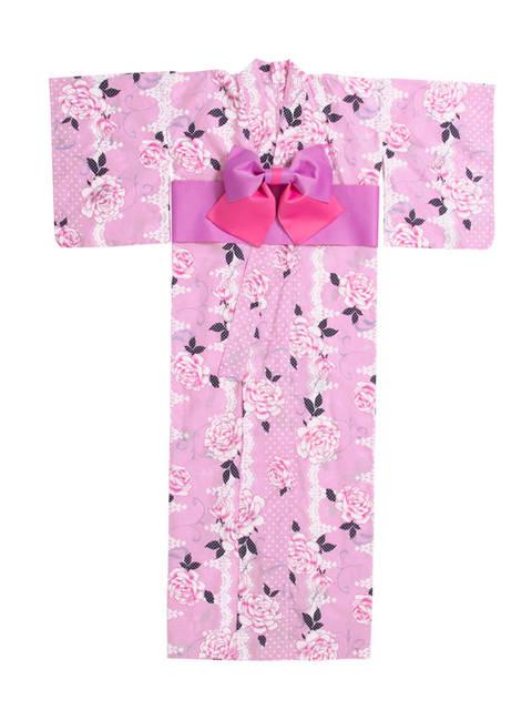 バラ柄ピンク