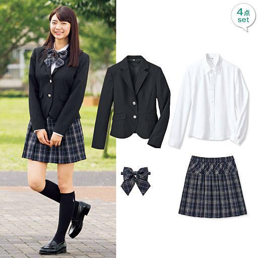 私立高校の制服みたいで可愛い♡