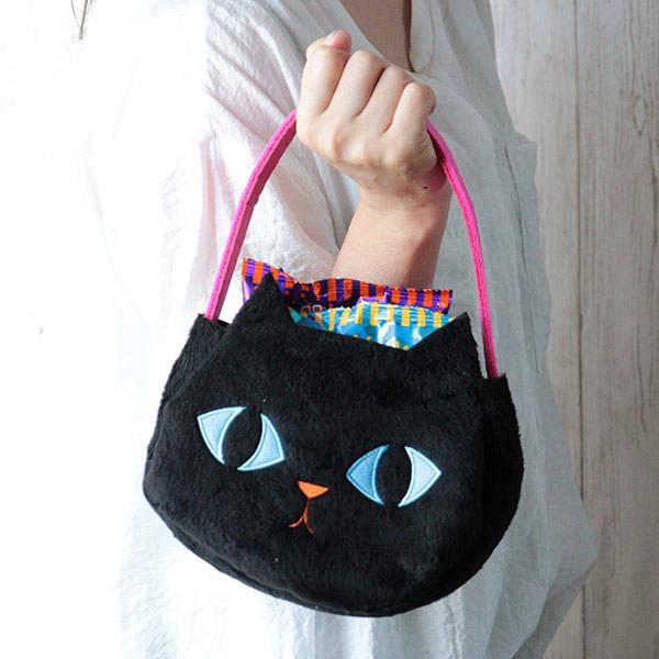 オリジナル ハロウィン 黒ネコバッグ