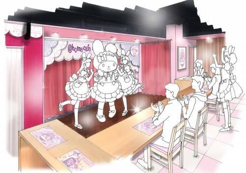 @ほぉ〜むカフェ×マイメロディコラボカフェ店内イメージ