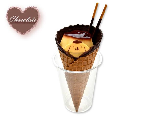 ポムポムプリンのチョコーンパフェ