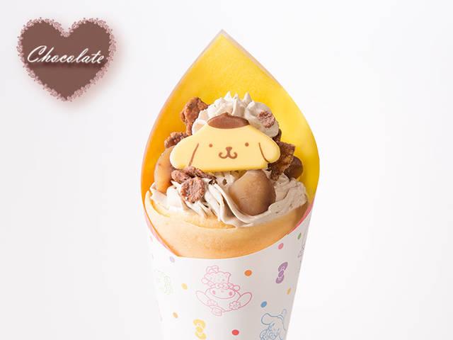 ポムポムプリンのマロンチョコクレープ